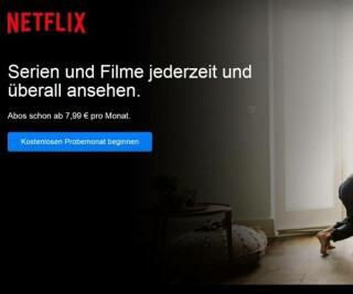 Website von Netflix
