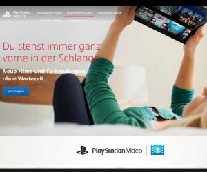Website von Playstation Video