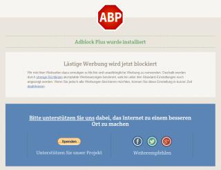 Adblock Plus Startseite