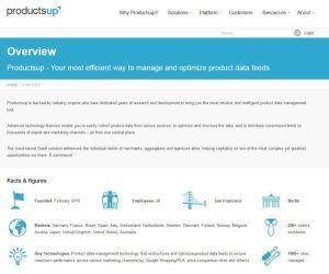 webseite von productsup