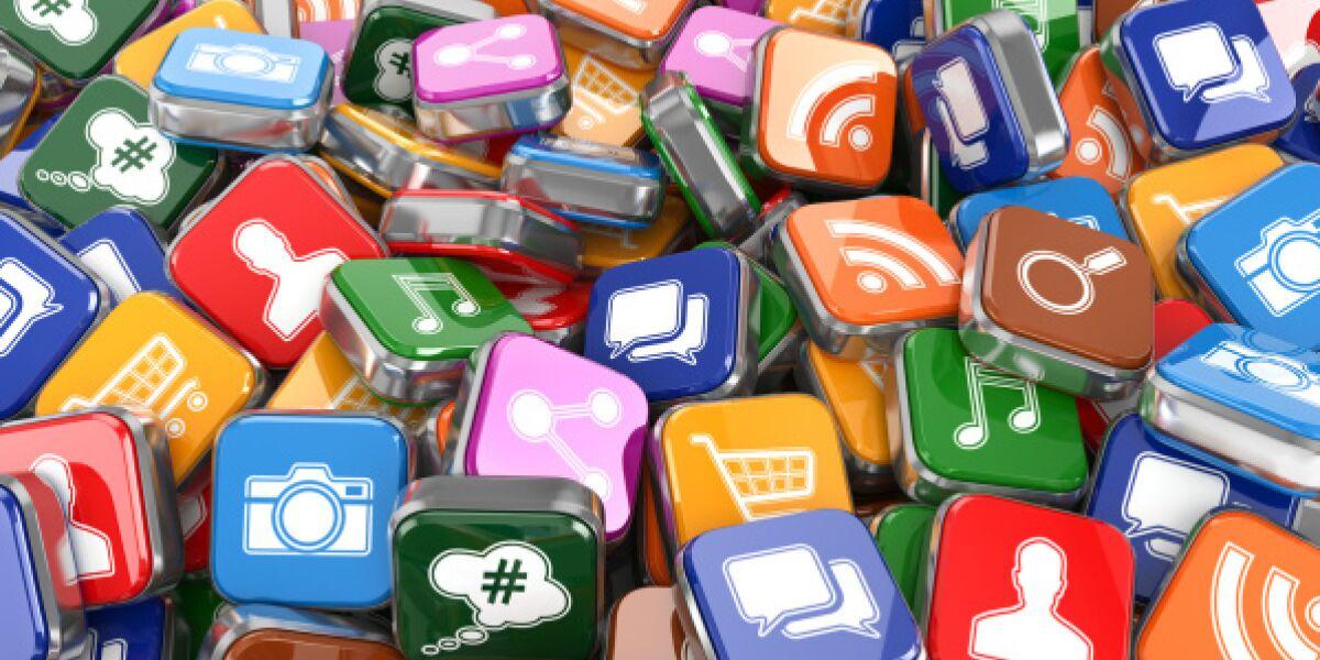 Haufen mit App-Buttons