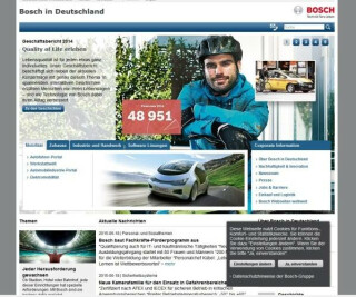 Website von Bosch