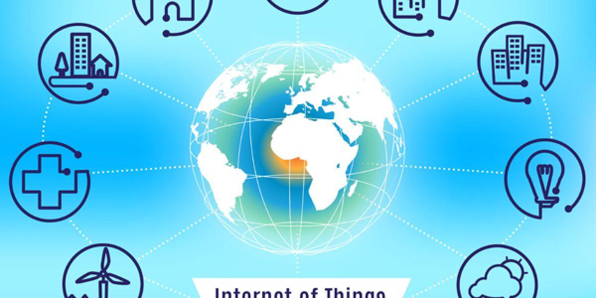 Symbole zum Internet der Dinge