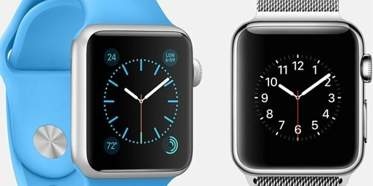 Apple Watch in blau und grau