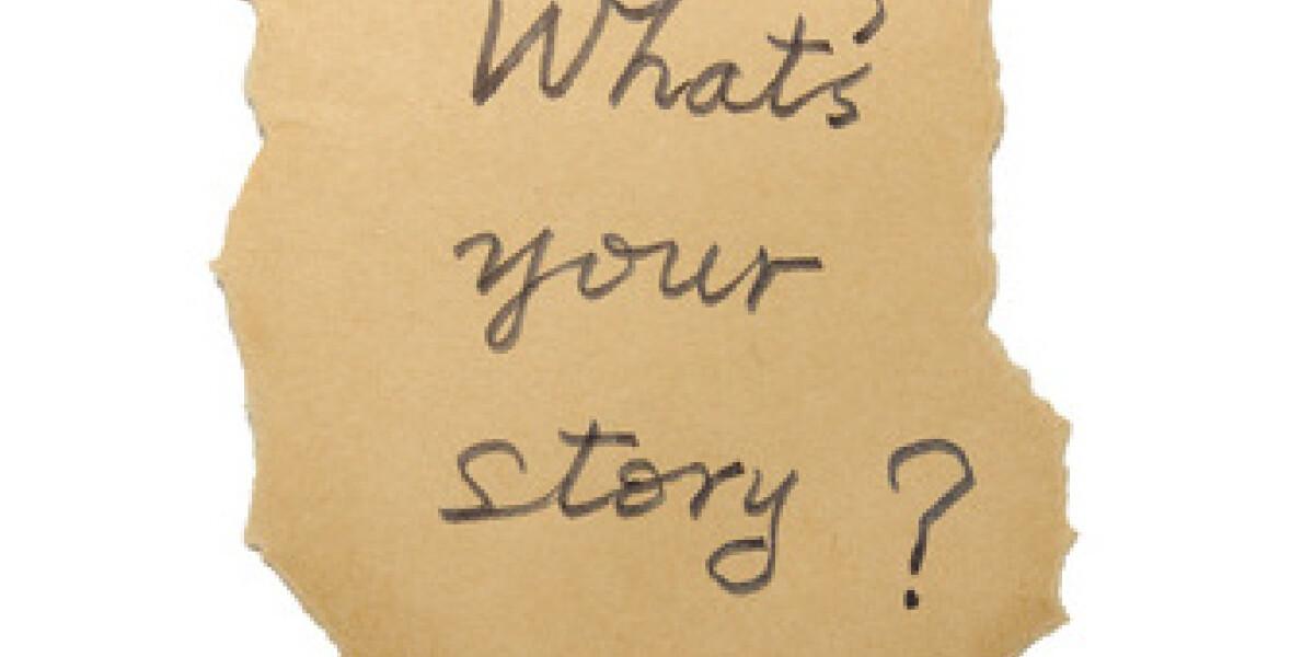 Zettel mit der Aufschrift What's your Story