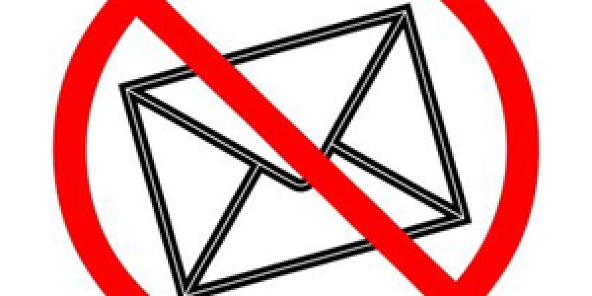 Durchgestrichener Brief