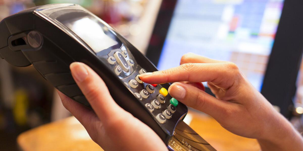 Kartenzahlung im Laden