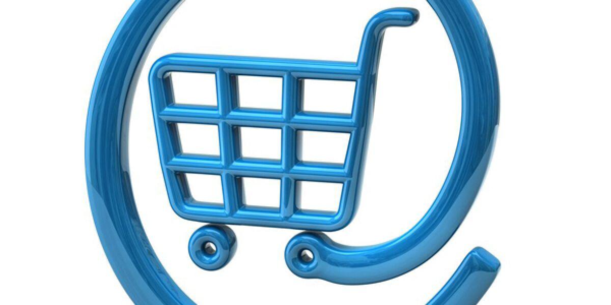 At-Zeichen mit Einkaufswagen