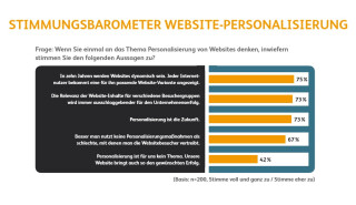 Stimmungsbarometer Website-Personalisierung