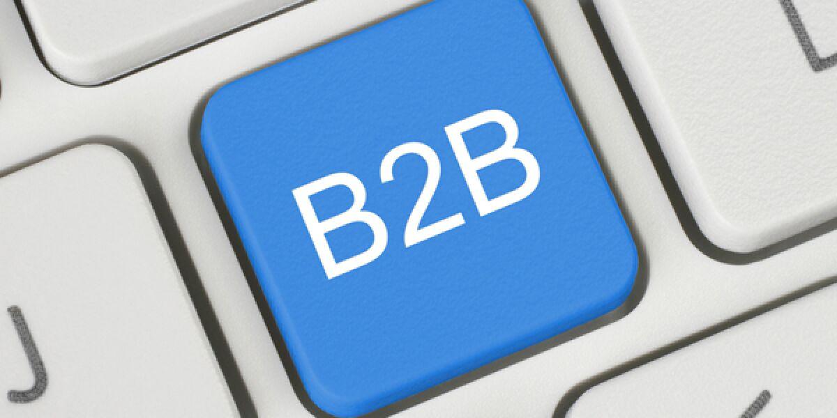 Computertastatur mit B2B