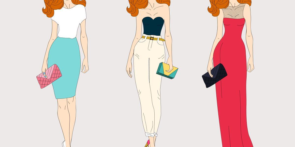 Drei Frauen präsentieren Mode