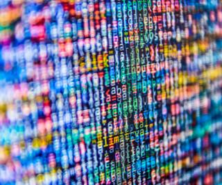 Viele Daten verschwommen