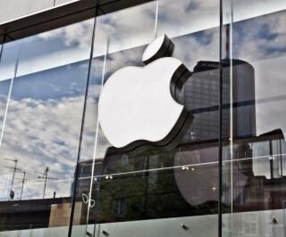 Apple Logo vom Apple Store in Frankfurt