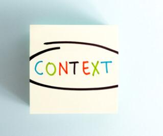 Schriftzug Context auf einem Stück Papier