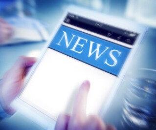 News auf dem Tablet