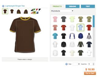 Screenshot der Website von Spreadshirt