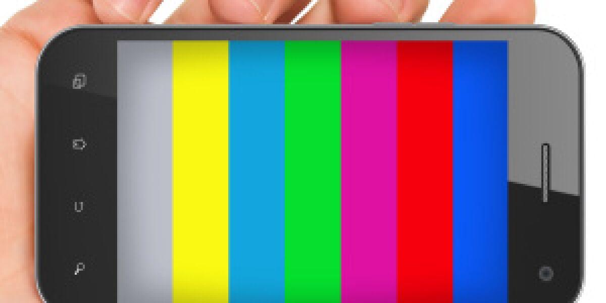 Smartphone mit bunten Farben
