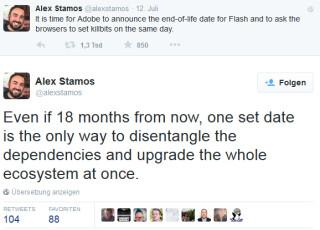 Alex Stamos auf Twitter