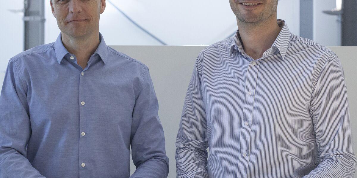 Oliver Grüttemeier (l.) und Tobias Liu