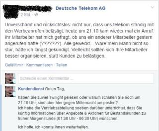 """Deutsche Telekom: Wer hat sich nicht schon einmal über lästige Werbeanrufe geärgert. Wie gut, wenn der """"Kundendienst"""" dafür sorgen kann, dass derartige Telefonate nur zu den Zeiten erfolgen, in denen sich der Kunde nicht gestört fühlt."""