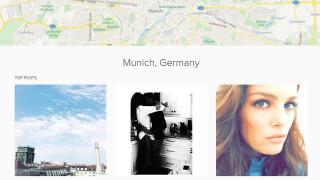 """Landing Page für das Geo-Tag """"München"""""""