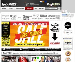 Website von 77Onlineshop