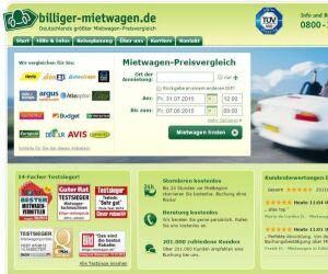 Screenshot von Billiger-mietwagen.de