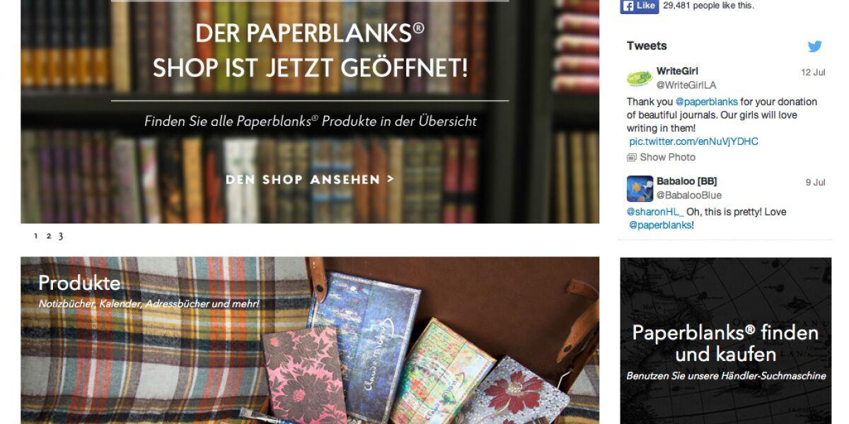 Webseite paperblanks