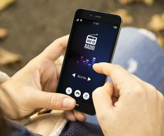 Radio-Stream auf Smartphone