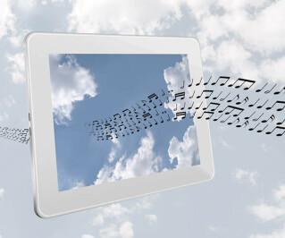 Tablet durch den Noten strömen