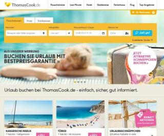 Website von Thomascook