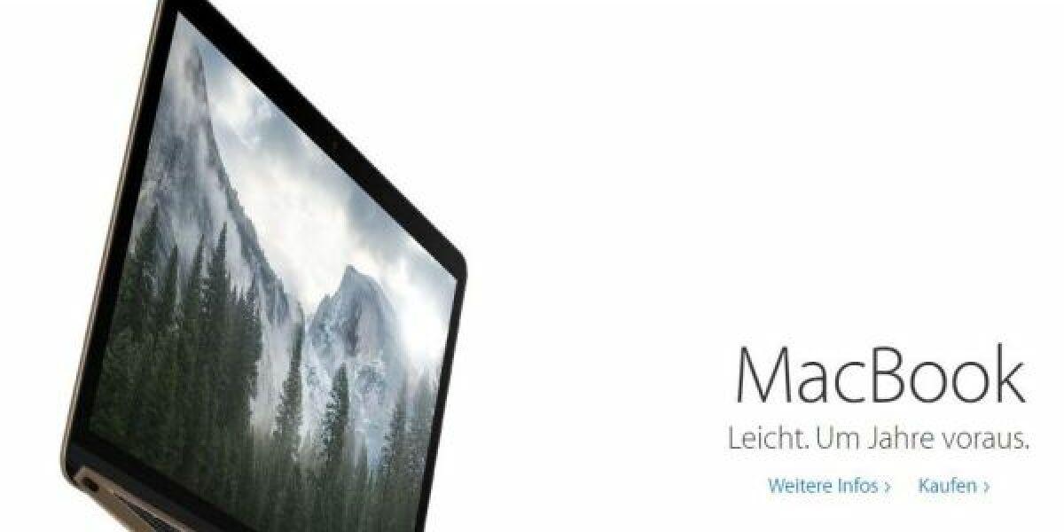 Mac Book auf der Apple-Website