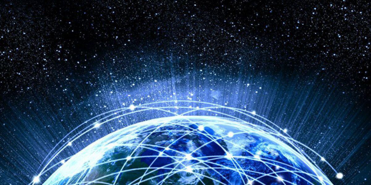 Globus mit Internet