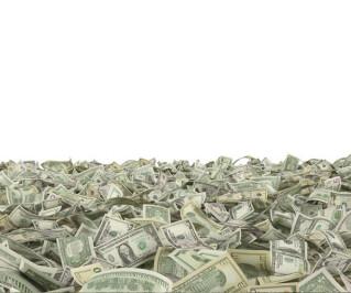 Ein Haufen von Dollarscheinen