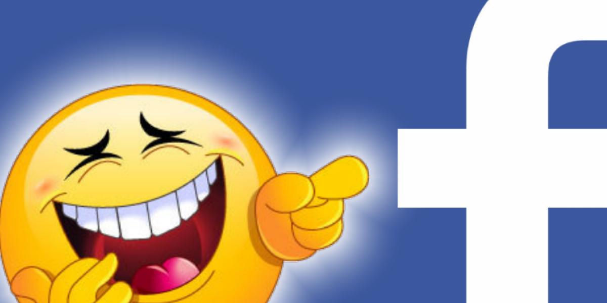 Lachendes Emoji mit Facebook-Logo