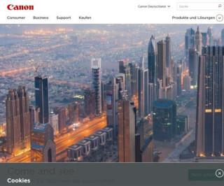Website von Canon