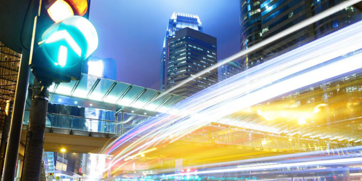 Autoverkehr und Ampel