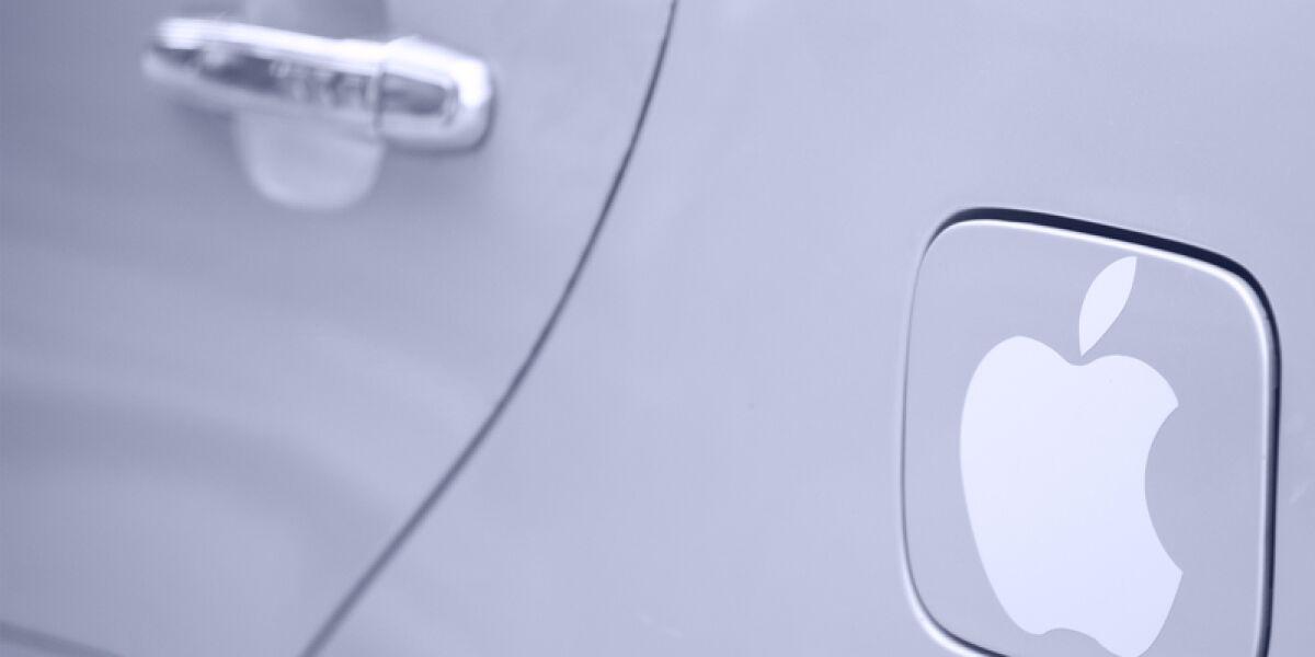 Auto mit Apple Logo