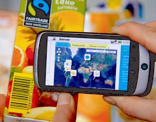 Öko-Siegel Fairtrade: Die Barcoo-App verknüpft moderne Technik mit Umwelt- und Gesundheitsbewusstsein.