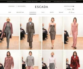 Website von Escada