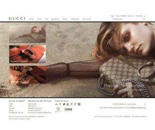 Website von Gucci