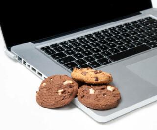 Cookies auf Laptop