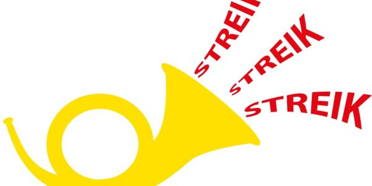 Posthorn bläst zum Streik