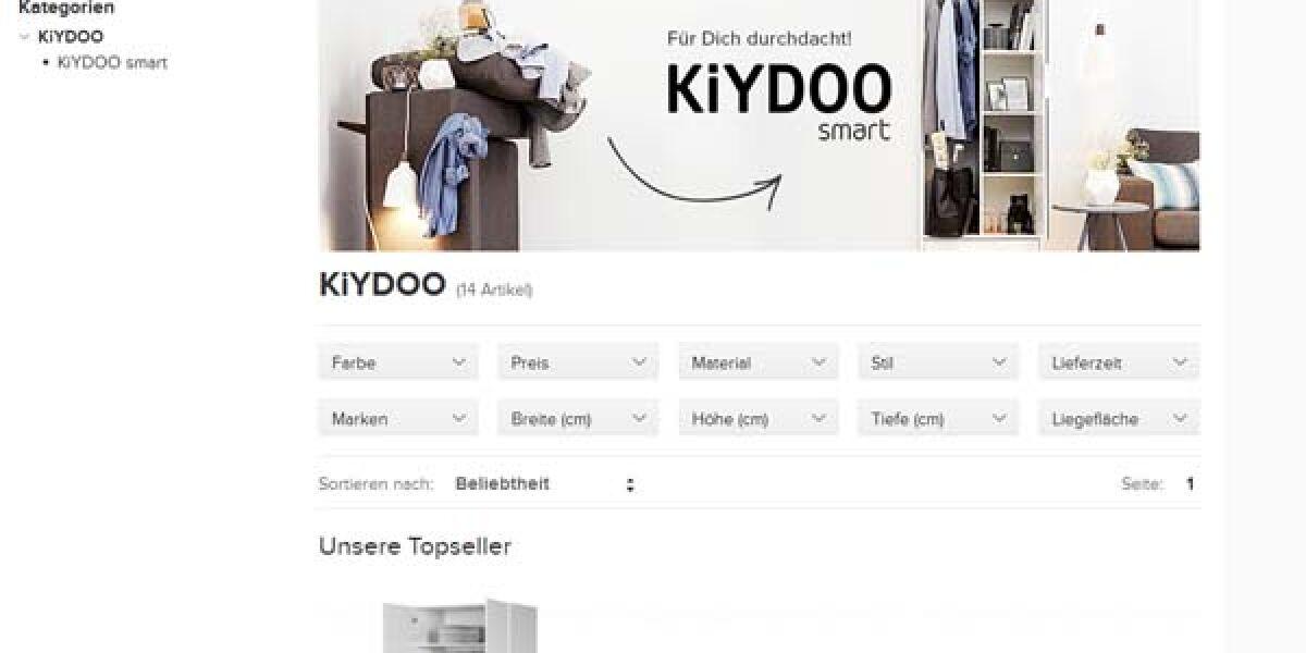 Screenshot Kyidoo-Webseite