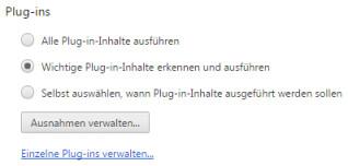 Chrome Flash-Plug-in
