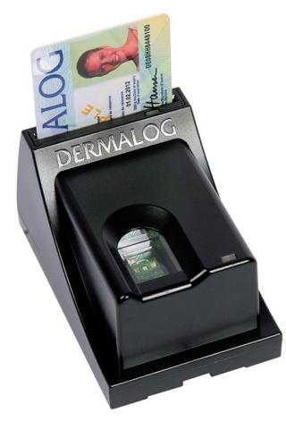 Dermalog ZF1 + Smart Card Reader: Vergleicht den Fingerabdruck mit dem, der auf der Karte gespeichert ist.