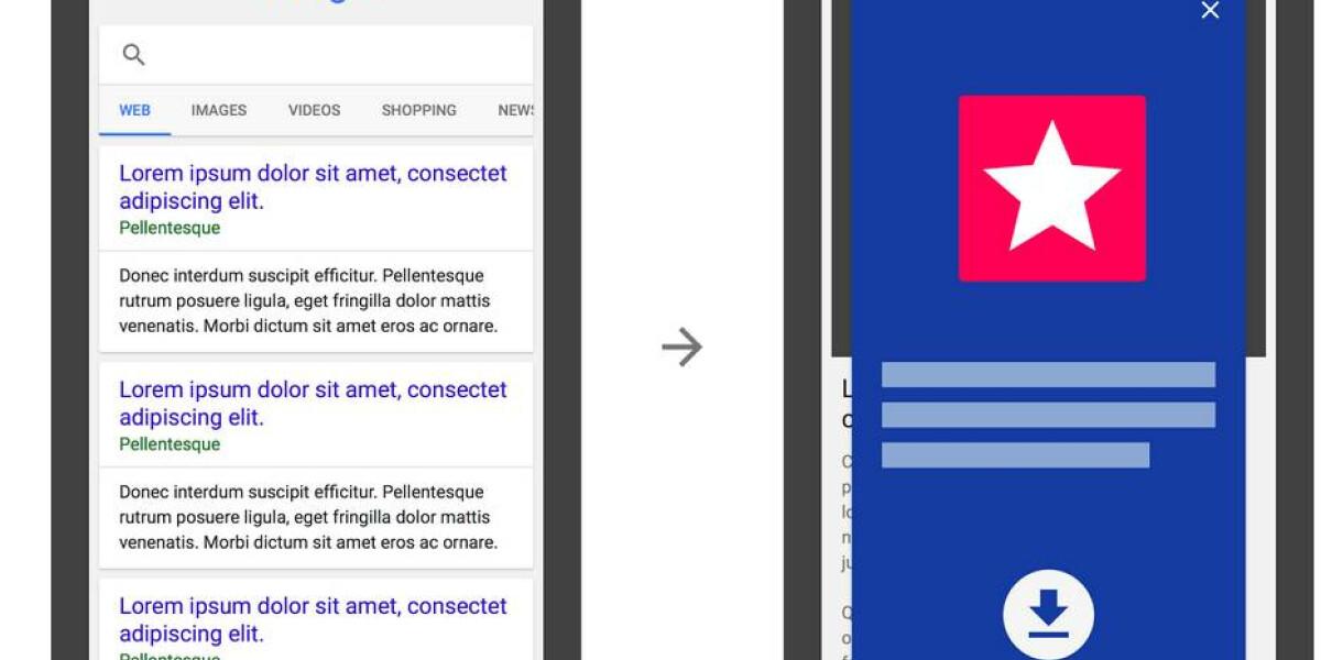 App-Install Interstitials bei Suchergebnissen