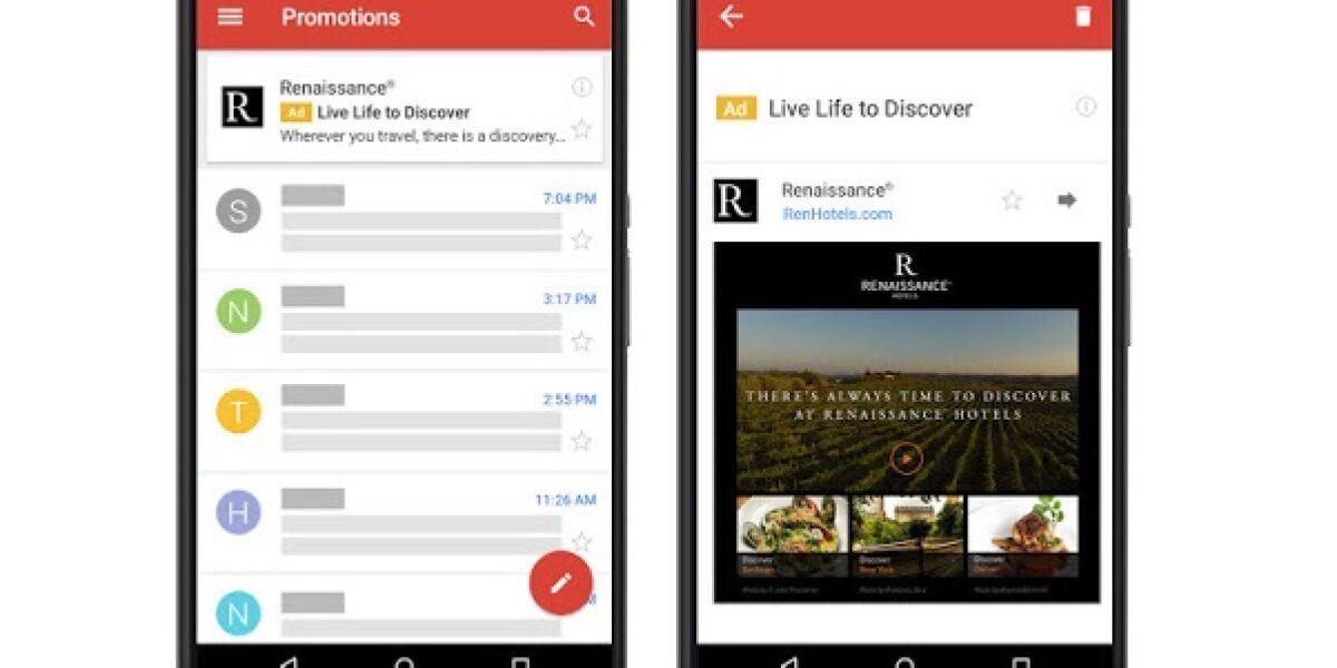 Gmail Ads auf dem Smartphone