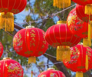 Lampions zum Chinesischen Neujahrsfest