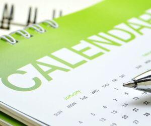 Kalender mit Stift